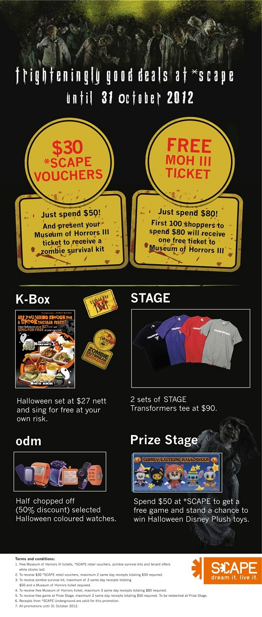 2012 SCAPE Halloween Retail Promotion