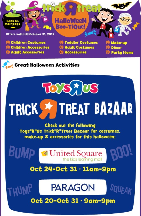 2012 Trick Or Treat Bazaar Toys'R'Us