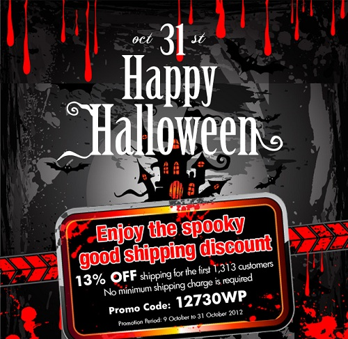 2012 vPOST Halloween Shipping Discounts