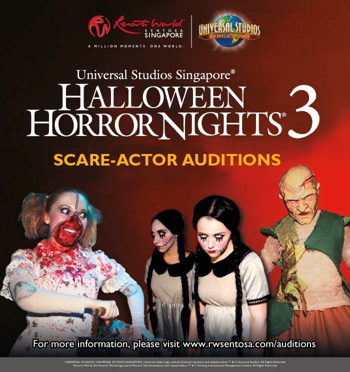 2013 Halloween Horror Nights 3 Scare-Actor Auditions