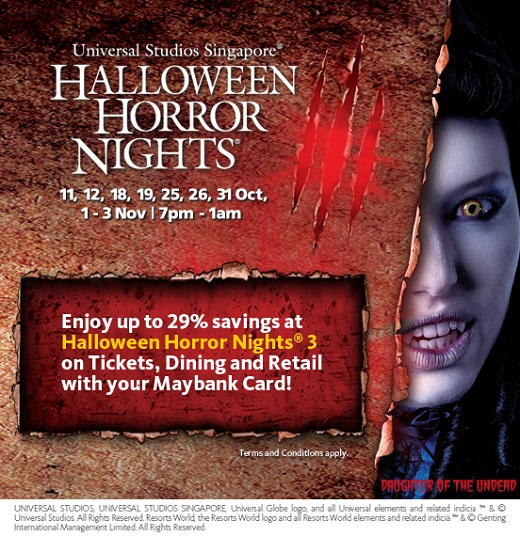 2013 USS Halloween Horror Nights 3 Maybank Promotion