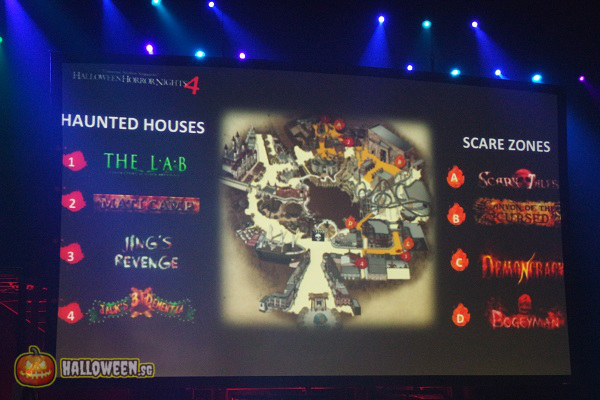 2014 Halloween Horror Nights 4 Inauguration - Scare Zones and Haunted Houses