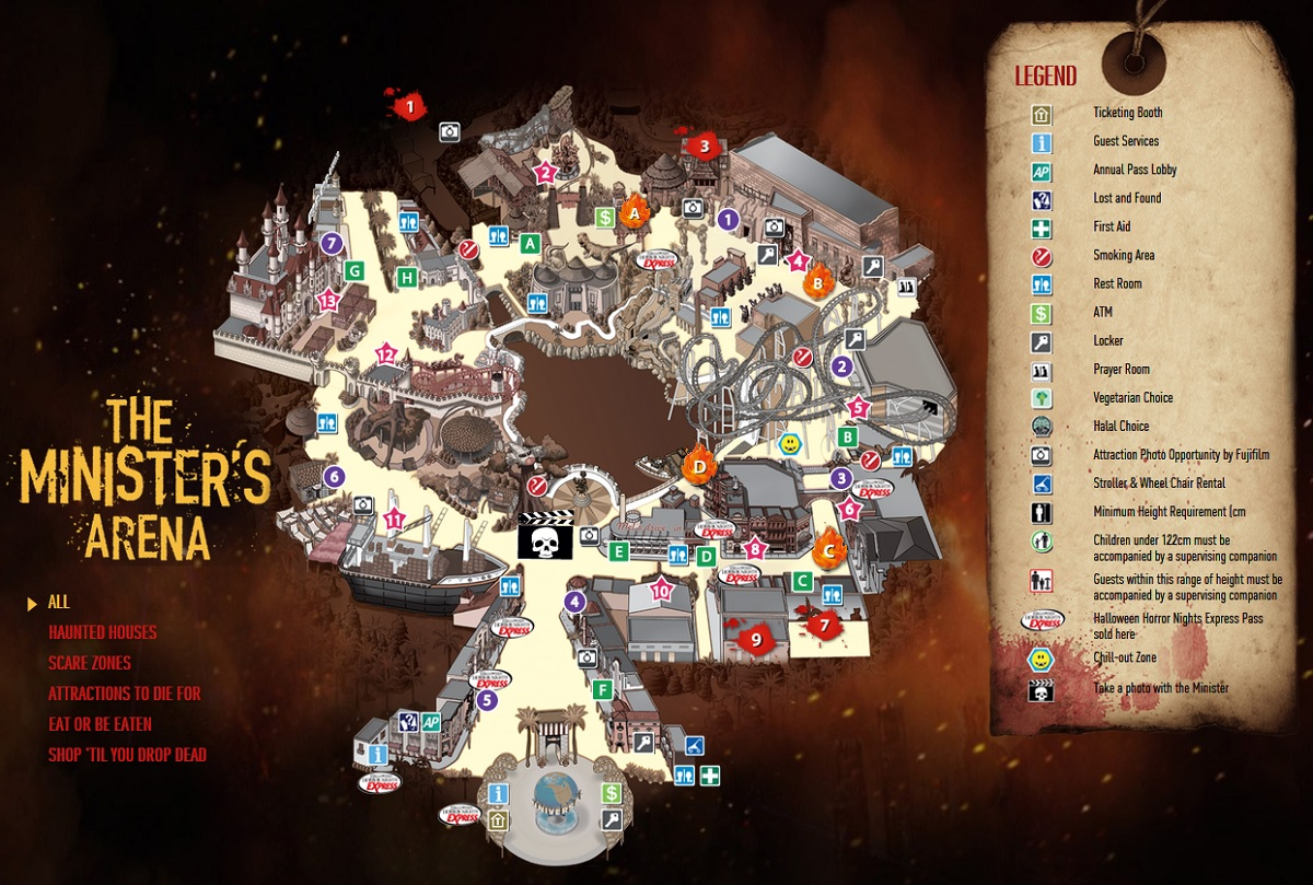 2014 Halloween Horror Nights 4 - Map