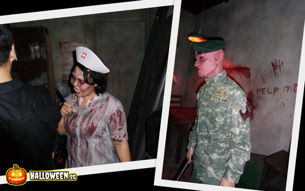 2014 Halloween Horror Nights 4 - MATI Camp - Insane Nurse and Officer