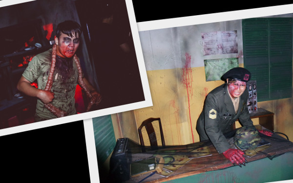 2014 Halloween Horror Nights 4 - MATI Camp - Tortured Recruit and Demon Officer