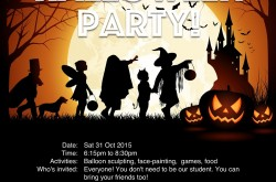 2015 Halloween Party - Study Room